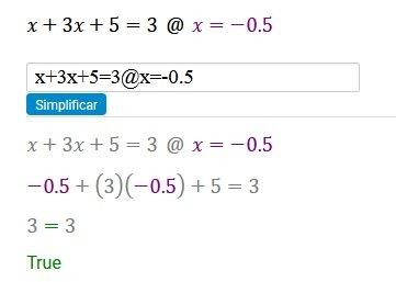 Como comprobar que la solucion de la ecuación es correcta