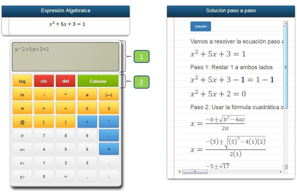 Calculadora Algebraica online - Calculadora de ecuaciones paso a paso