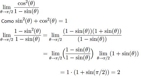 ejemplo resolver limites de funciones trigonometricas