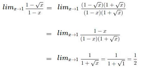 ejemplo resolver limites por racionalizacion