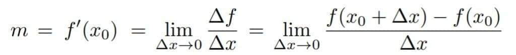 Formula general de la derivacion