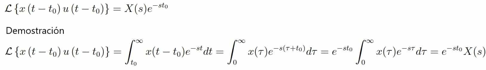 Desplazamiento en tiempo - Calculadora de transformada de laplace