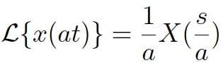 Propiedad cambio de escala 01 - Calculadora de transformada de laplace