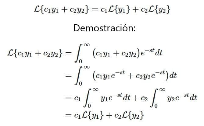 Propiedad de linealidad - Calculadora de transformada de laplace
