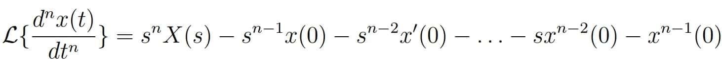 tranforma de laplace derivada 03- Calculadora de transformada de laplace