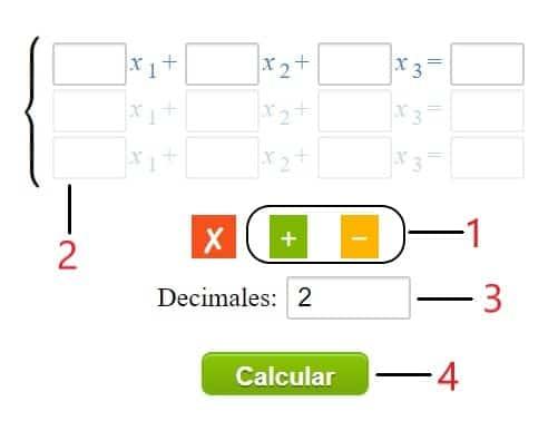 Calculadora Metodo de Gauss Jordan online - instrucciones