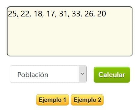 Calculadora coeficiente de variacion -paso 2a