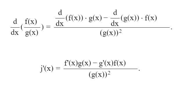 Demostracion de la derivada de un cociente-min