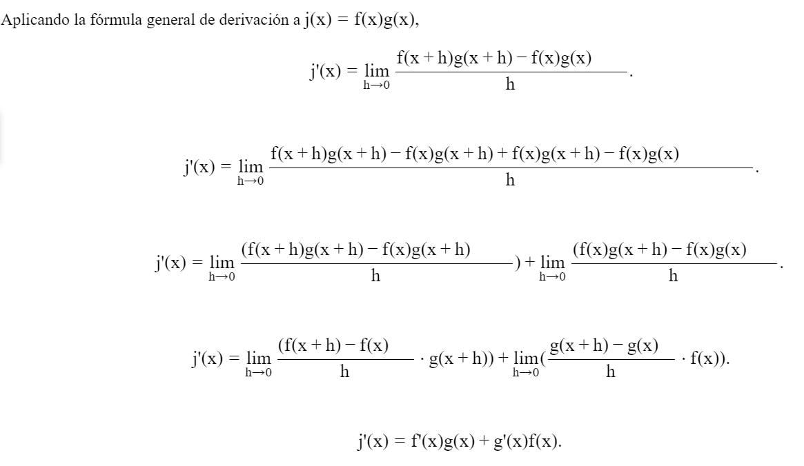 Demostracion de la derivada de un producto-min