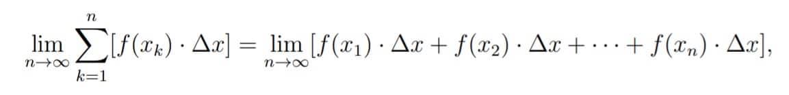 limite de Suma de Riemann