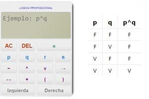 Generador de tablas de verdad - Logica proposicional - Algebra booleana