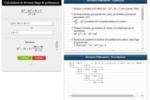 Calculadora de division de polinomios paso a paso - divisiones polinomiales