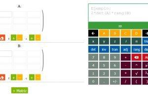calculadora de matrices online